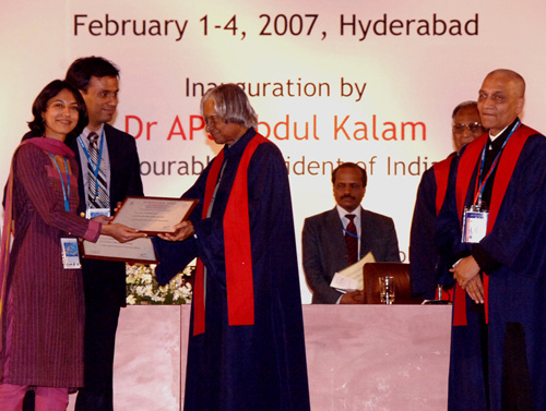 Dr. Debraj Shome being awarded by His Excellency, The President of India, Dr. APJ Abdul Kalam, 2007